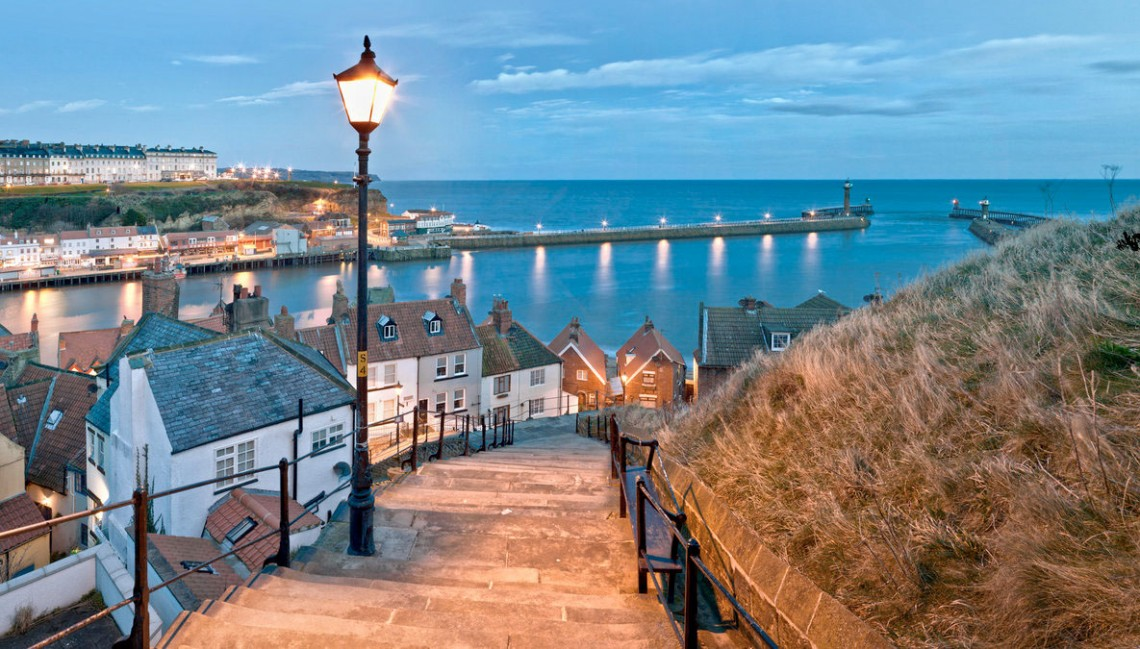 Whitby on the North Yorkshire Coast.