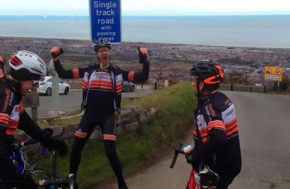 mark stevens celebrates hillside ascent