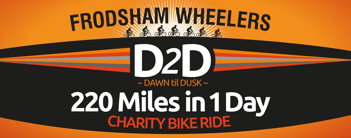 d2d banner slide charity bike ride