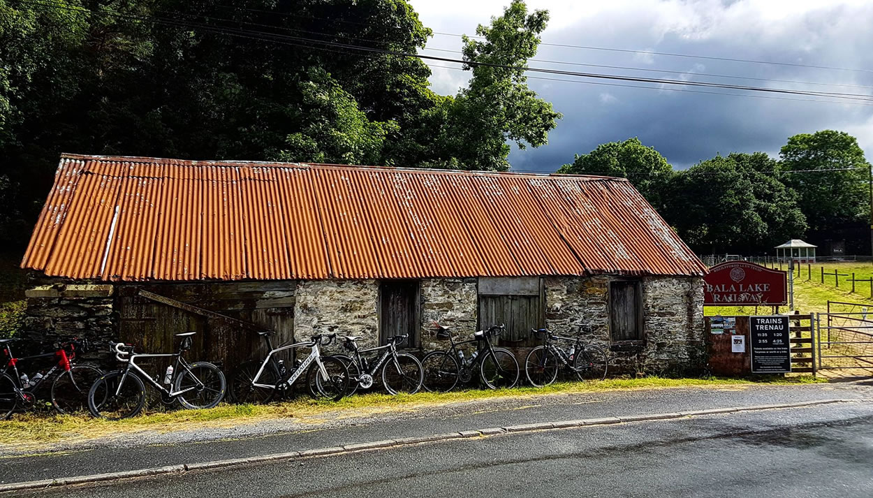 bikes parked near bala lake