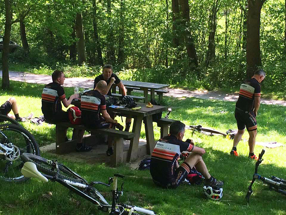 picnic stop-woodland mountain bike trail delyn north wales