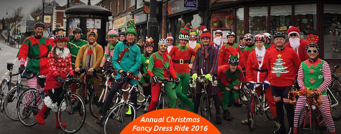 frodsham wheelers christmas fanchy dress cycle ride 2016
