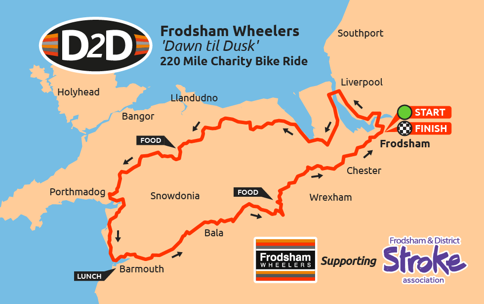 d2d wales charity cycle ride map 2017