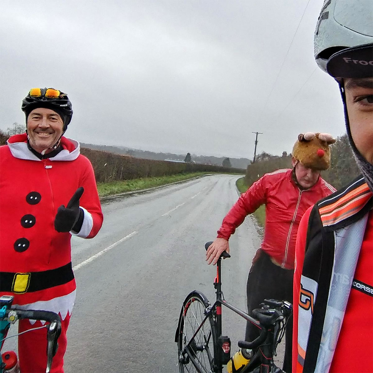 christmas fancy dress cycle ride