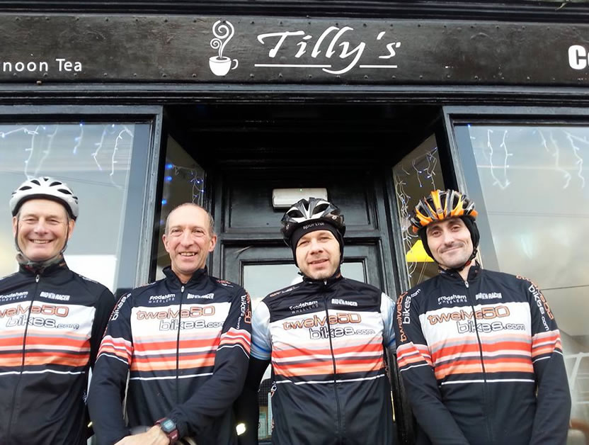 four wise wheelers spin to tillys cafe december 2015