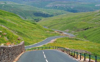 The Buttertubs Pass is a high road in the Yorkshire Dales, England