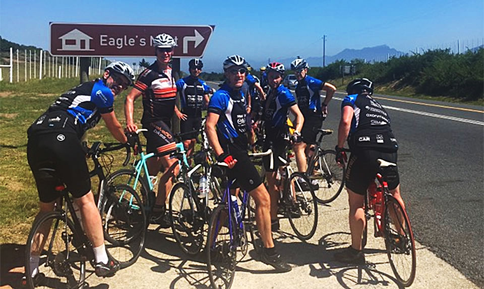 Frodsham Wheeler Matthew Kimpton-Smith and fellow riders on their epic journey across South Africa.