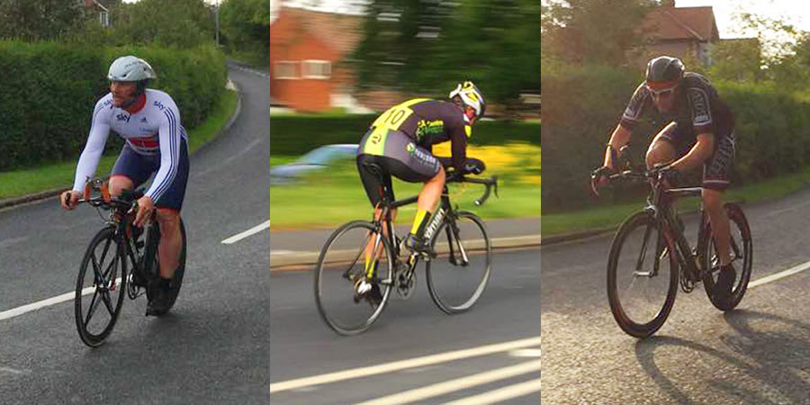 3 time trial cyclists hale circuit june 2016