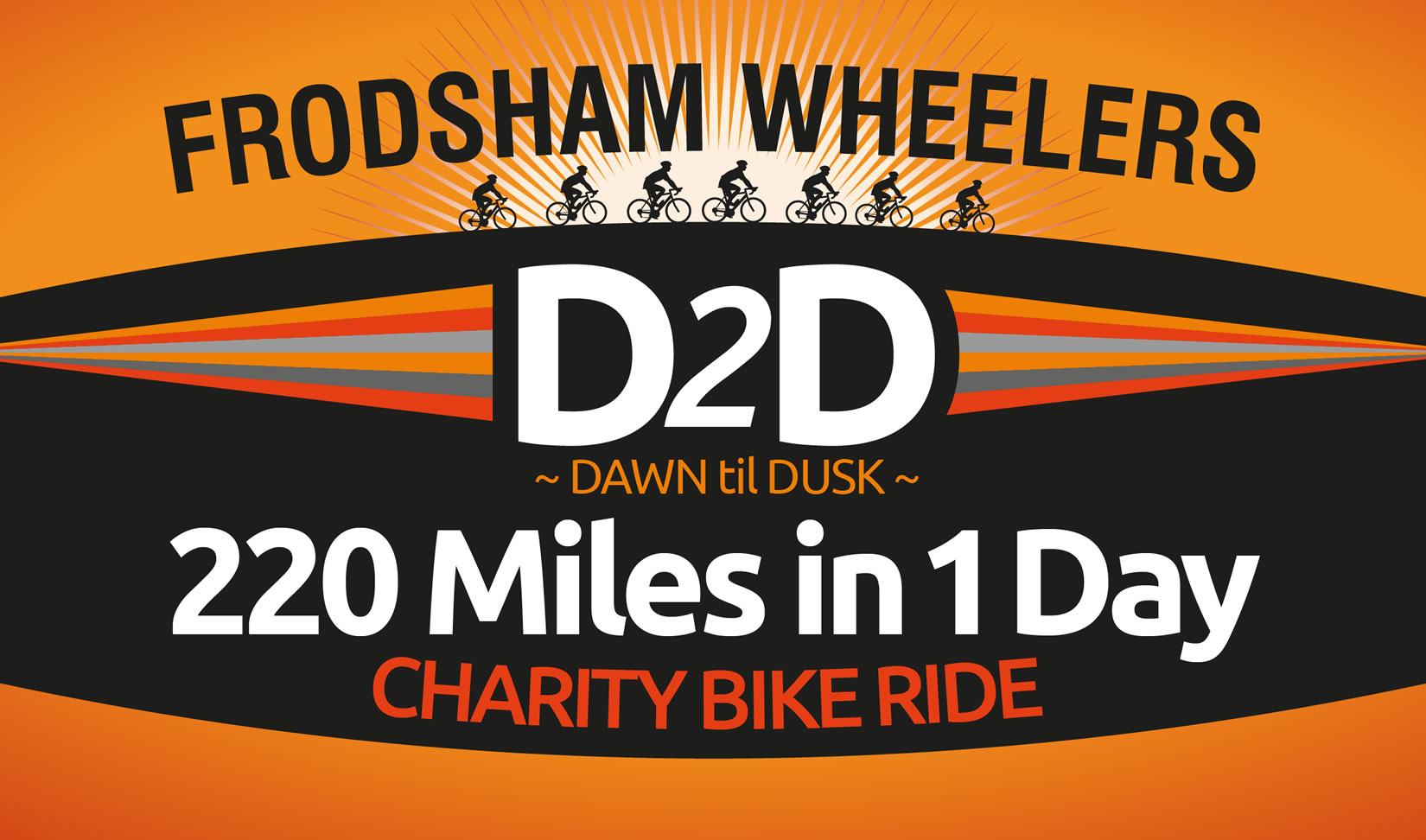d2d charity bike ride banner