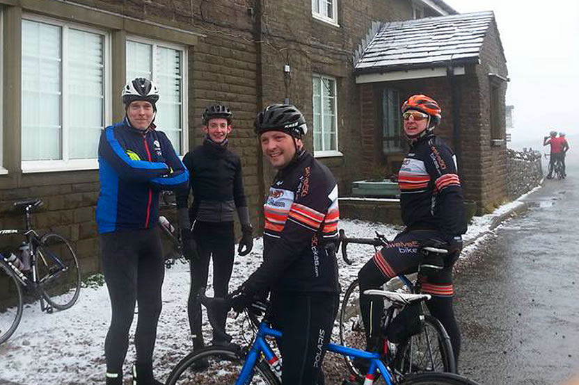 frodsham wheelers winter 2017 cat and fiddle cycle ride