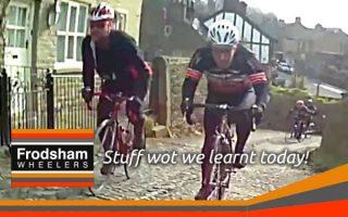 frodsham wheelers ride cobbles beeston brow cheshire