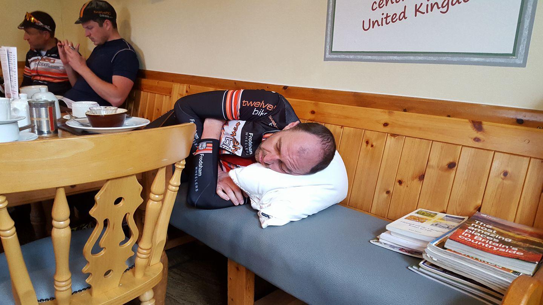 tired cyclist england lanacashire