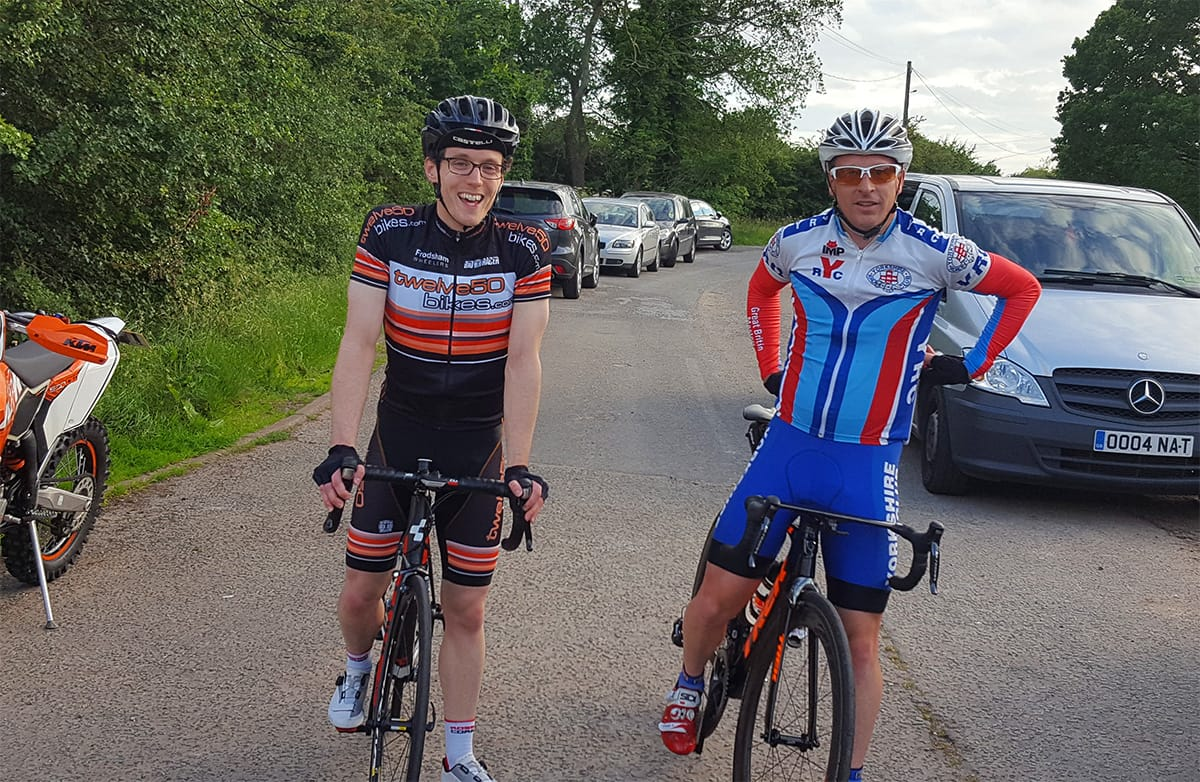 Frodsham Wheelers Time Trial Riders, post race.