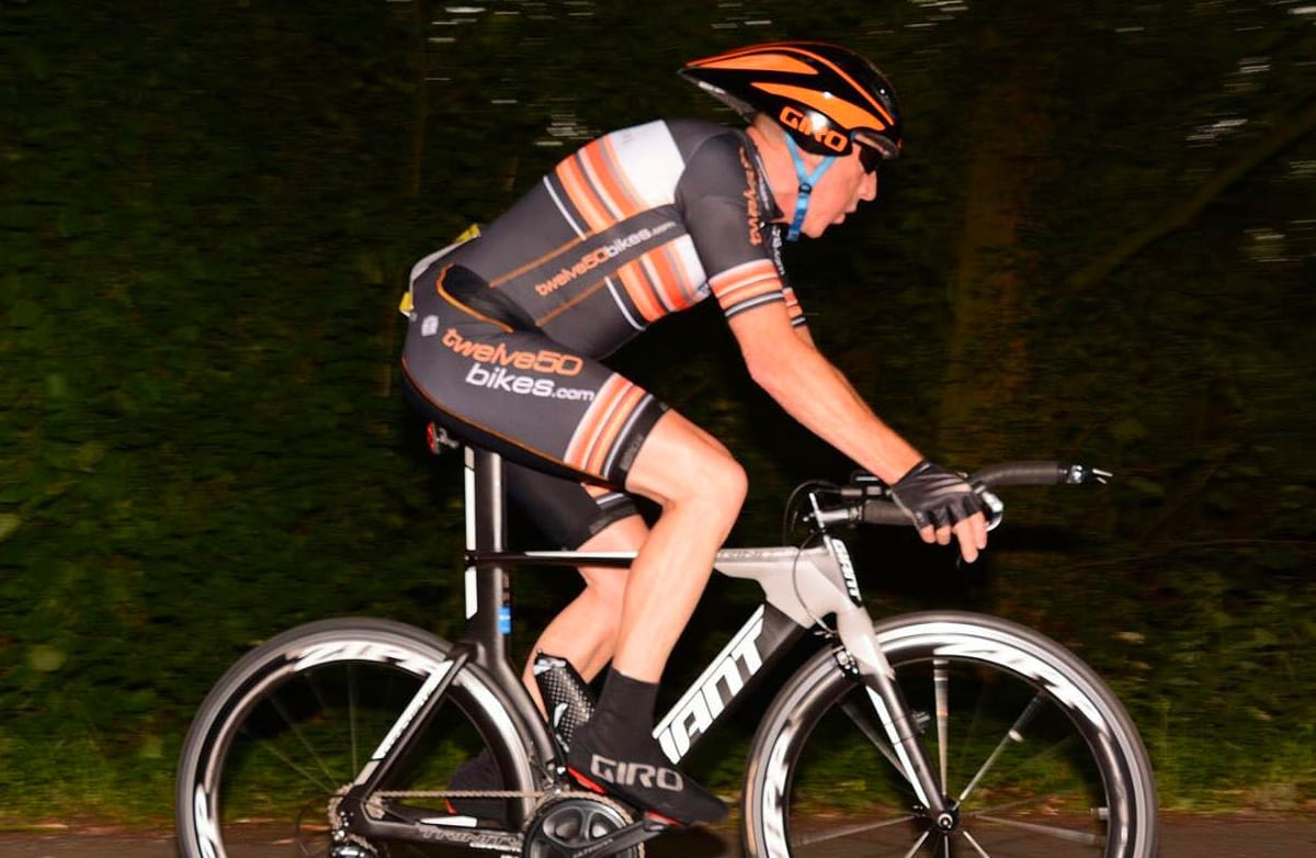 frodsham wheelers time trial rider alan clark 15th june 2017