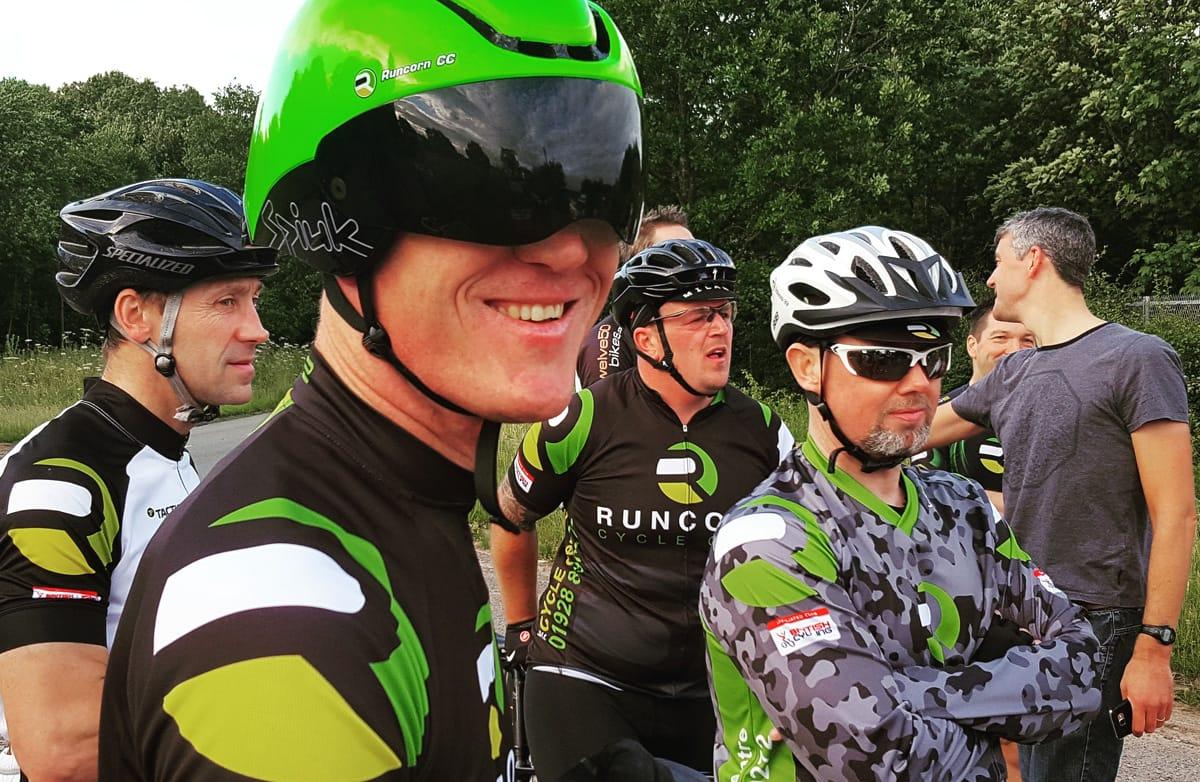 runcorn cycle club time trial riders 15th june 2017
