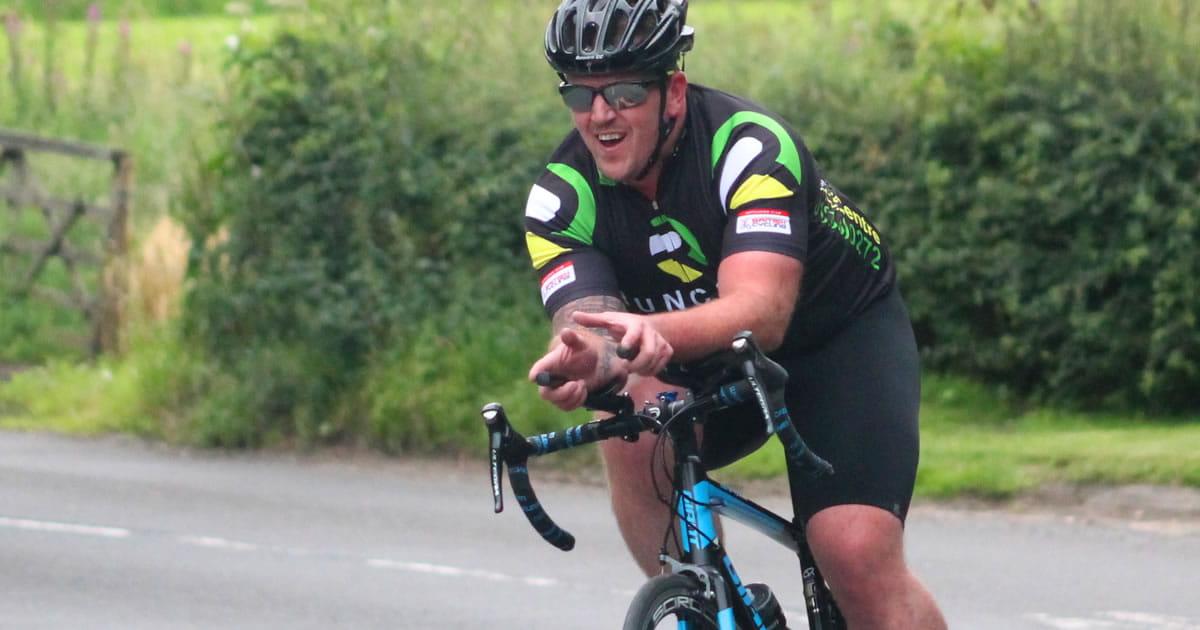time trial rider grimsditch lane runcorn cycle club