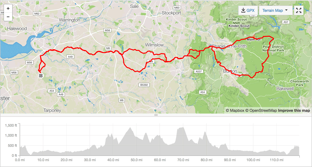 derbyshire dales cycling route