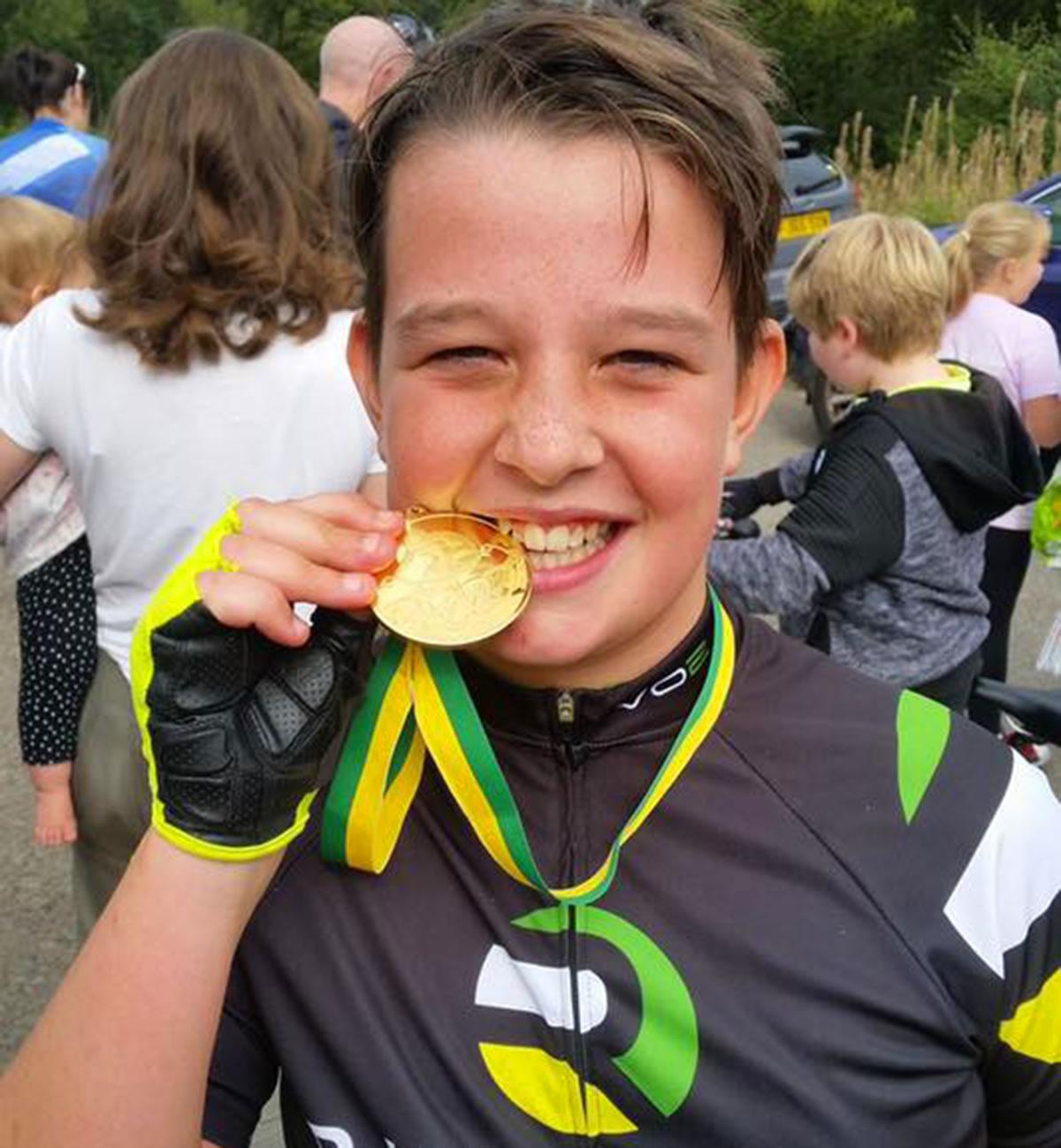 hatton 10-time trial handicap junior medal winner