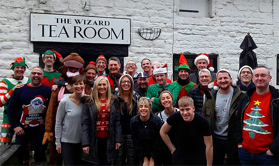 frodsham wheelers christmas fancy dress wizard tearoom
