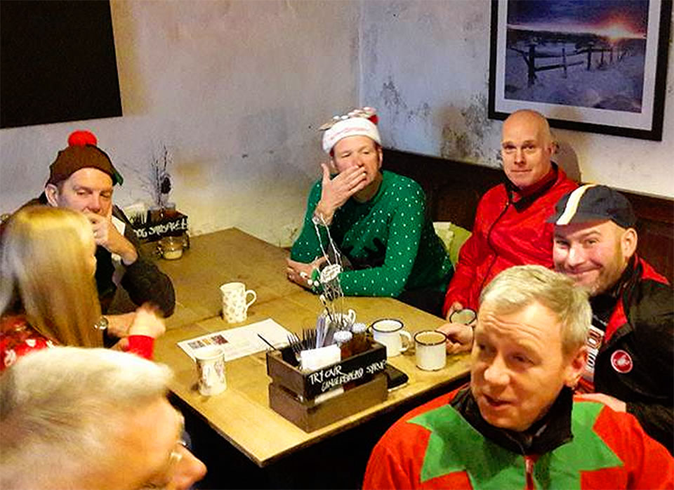 wizard tearoom cyclists in fancy dress