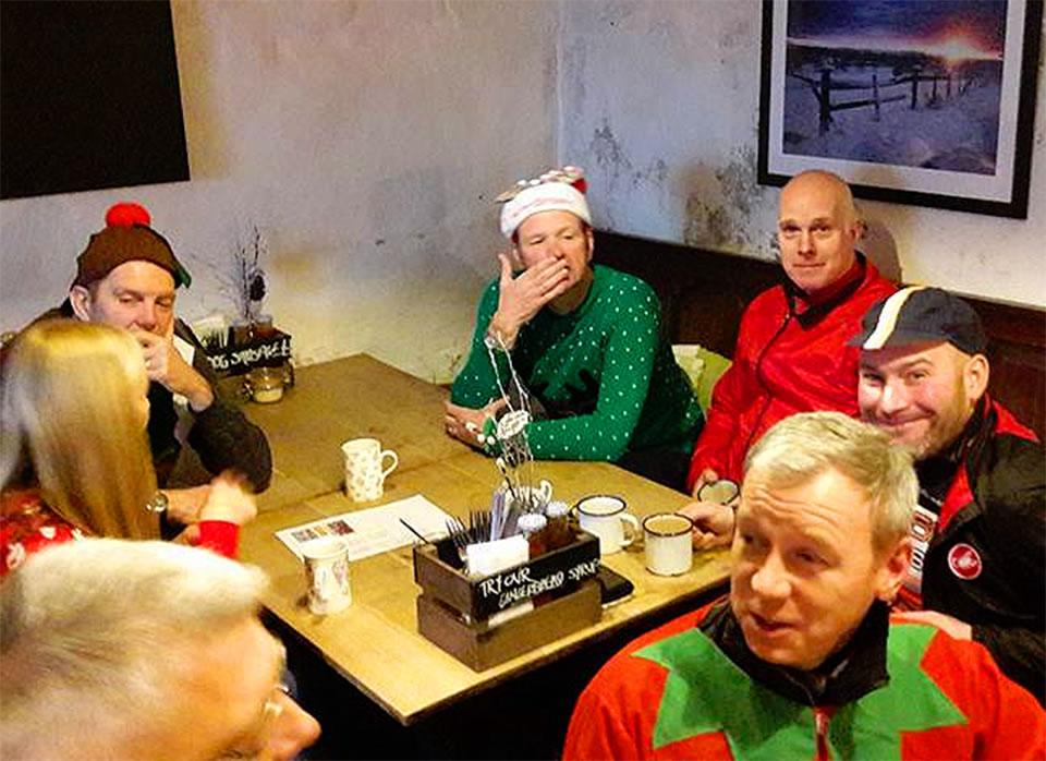 wizard tearoom cyclists in fancy dress