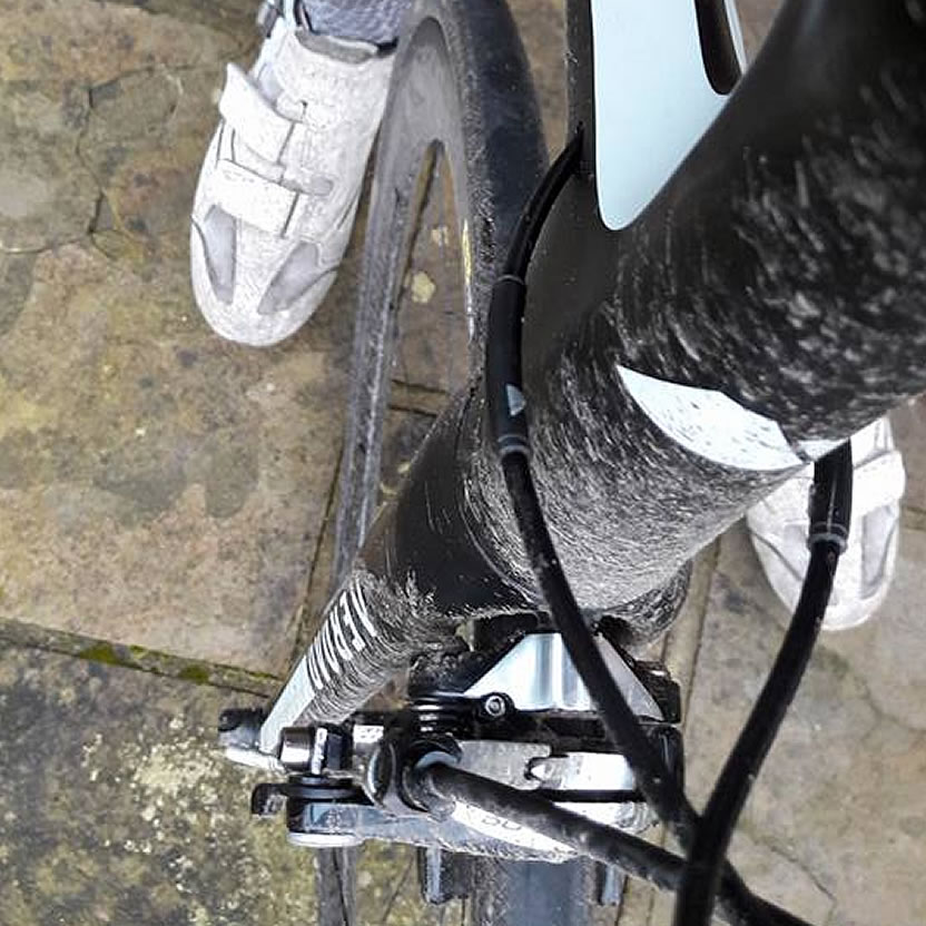 dirty grit on road bike