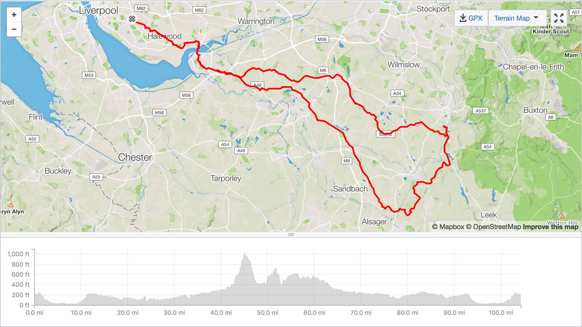 mow cop cycling route from liverpool