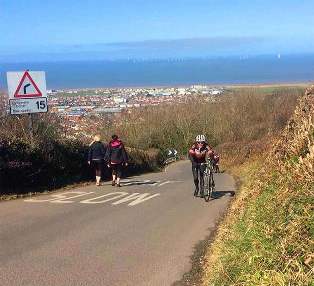 hillside cycling prestatyn gwaenysgor hill frodsham wheelers 5