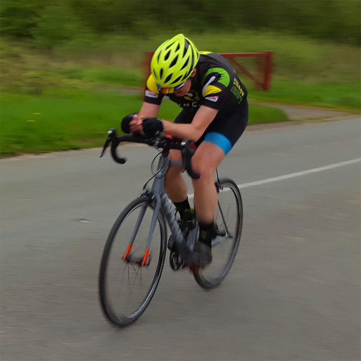 runcorn cycle club time trial rider 1