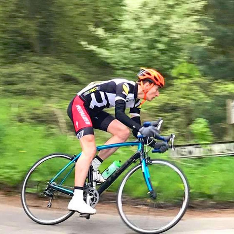 runcorn cycle club time trial rider 3