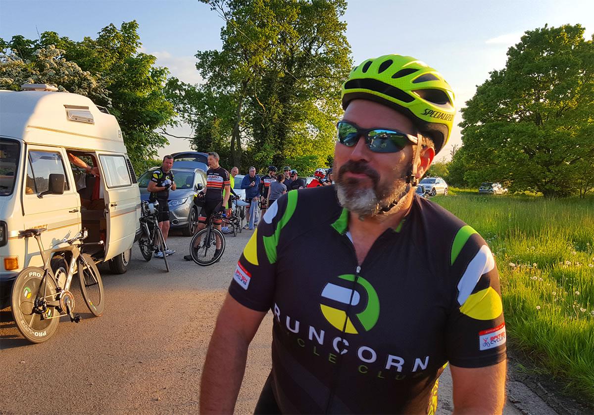 runcorn cycle club time trial rider