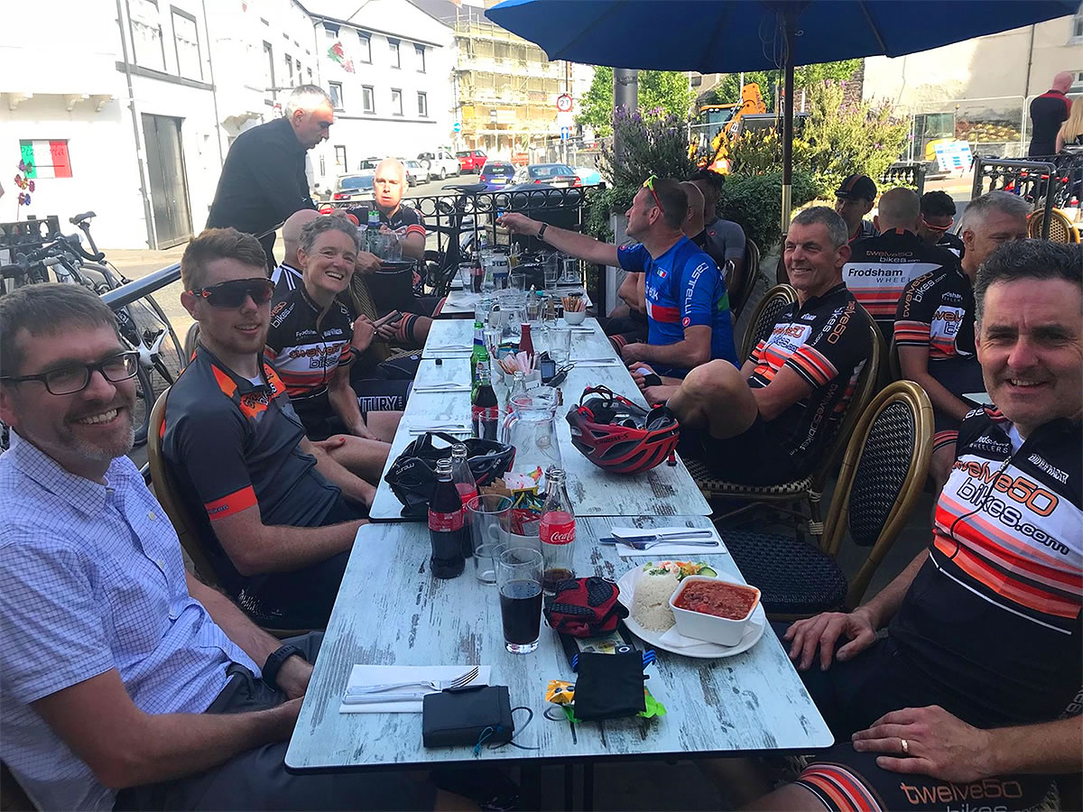 endurance cyclists cottage tea rooms north wales