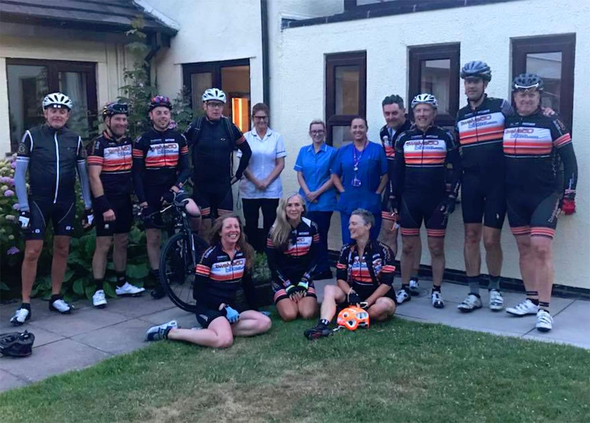 endurance cyclists halton haven hospice