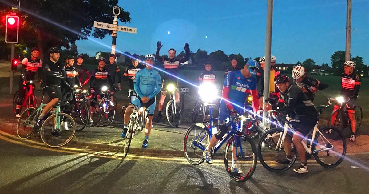 endurance cyclists heath road runcorn dawn