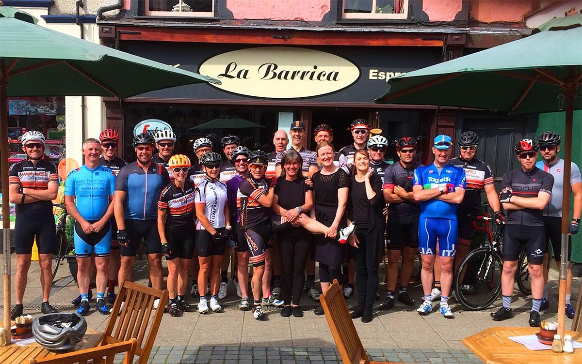 endurance cyclists la barrica wales