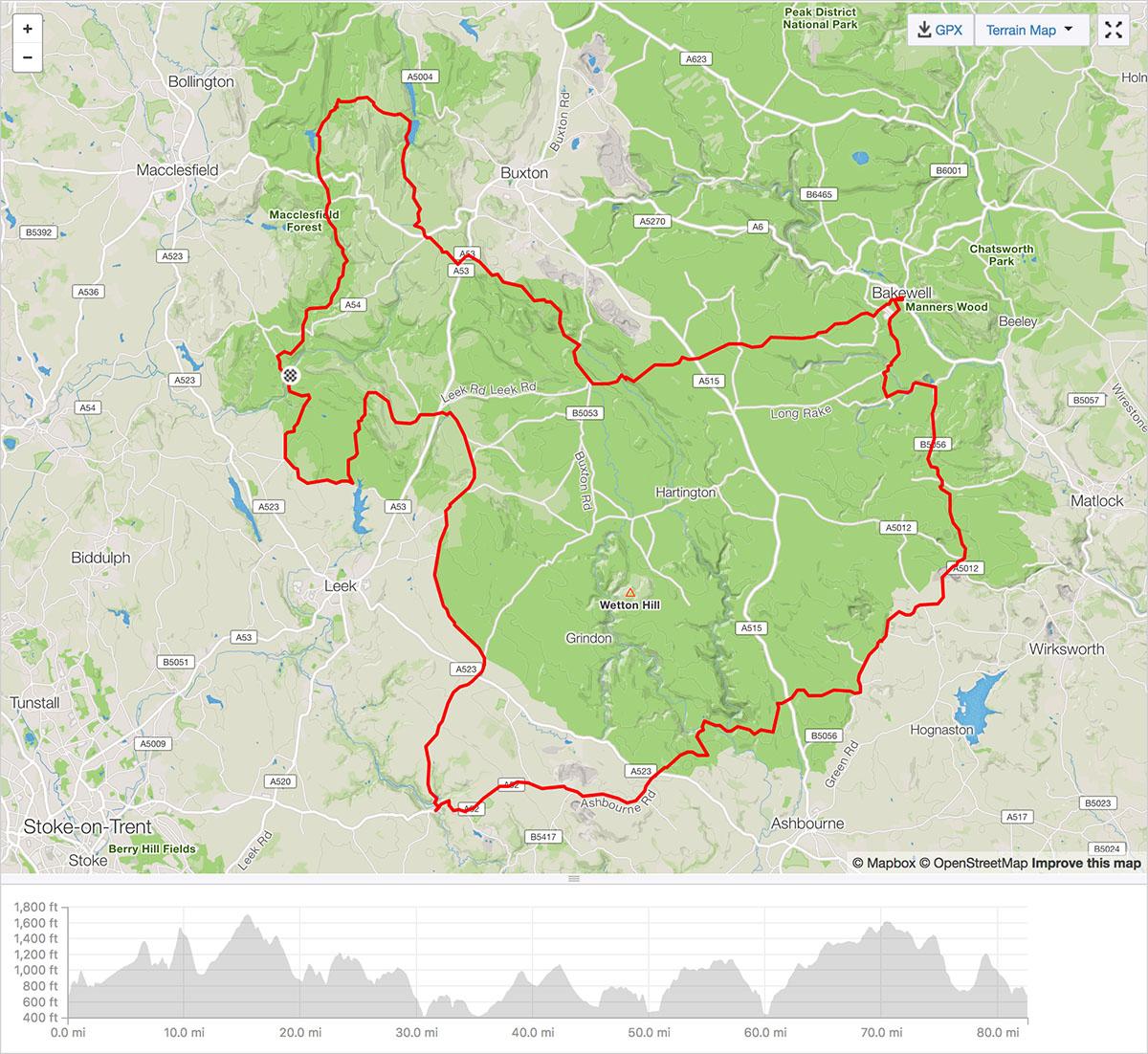 peak district epic club ride route